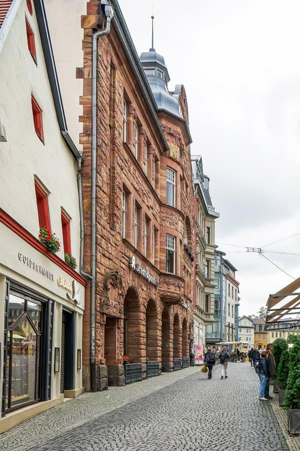 WEIMAR GERMANY/EUROPE - SEPTEMBER 14: Typisk gataplats in royaltyfri fotografi