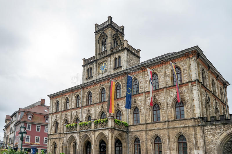 WEIMAR, GERMANY/EUROPE - SEPTEMBER 14 : View of the Town Hall in. Weimar Germany on September 14, 2014 stock photos
