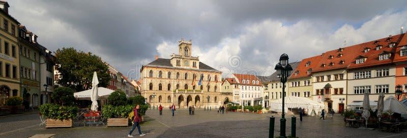Weimar, Rathaus und Marktplatz stockbild