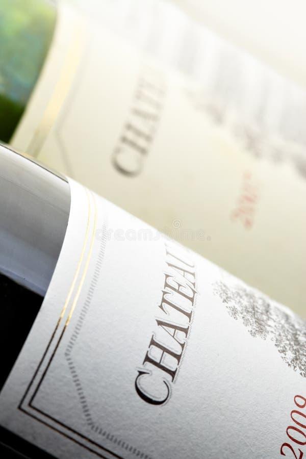 Wein botltes lizenzfreie stockfotografie
