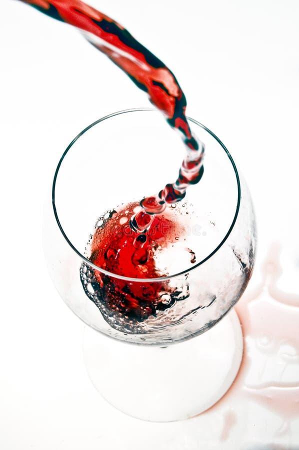 Wein in der Eleganz stockfoto