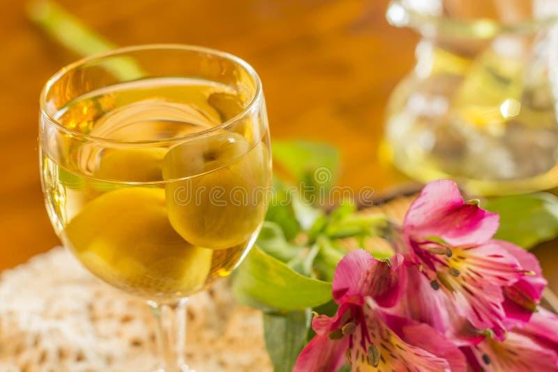 Wein der japanischen Pflaume stockfoto