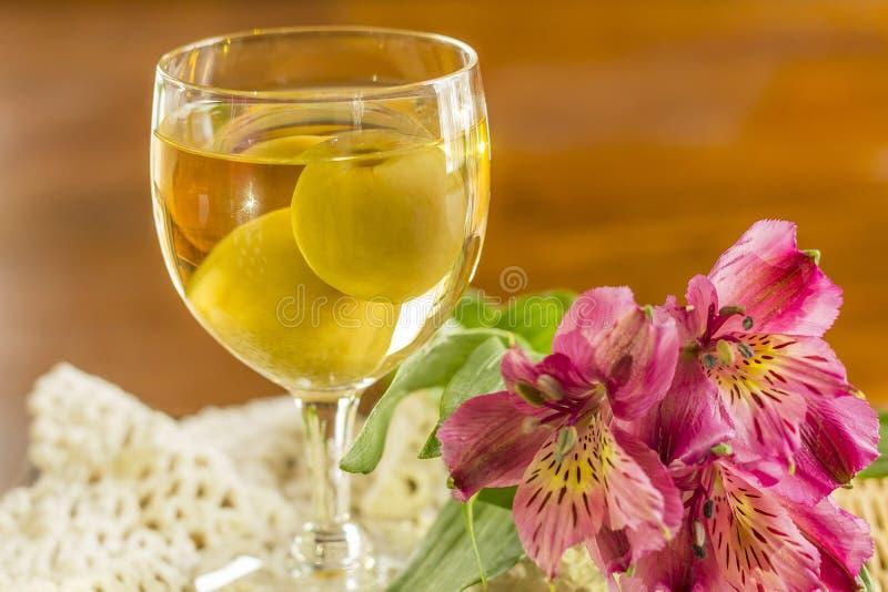 Wein der japanischen Pflaume stockfotos
