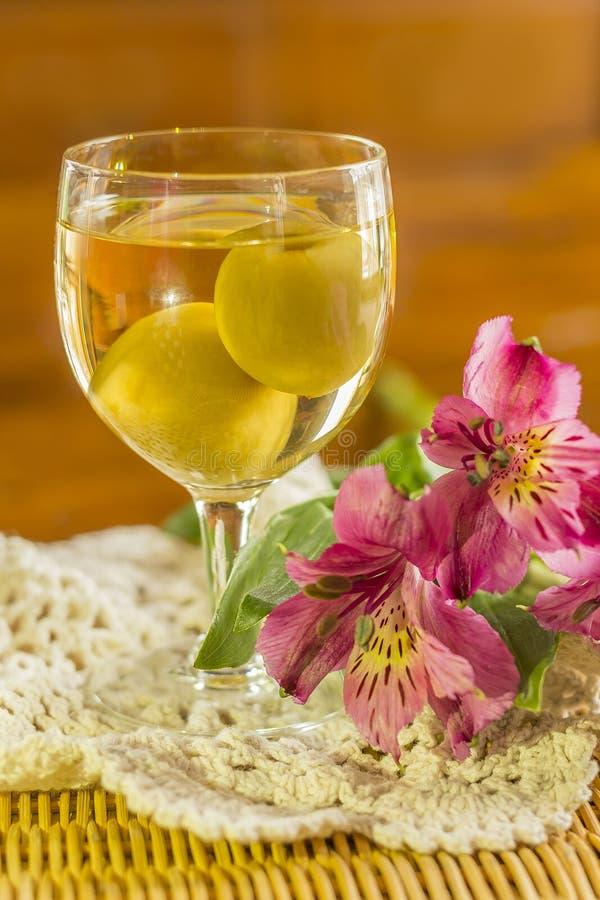 Wein der japanischen Pflaume lizenzfreie stockfotos