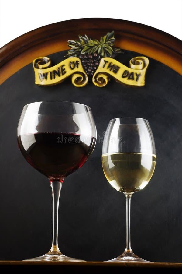 Wein des Tages stockbild