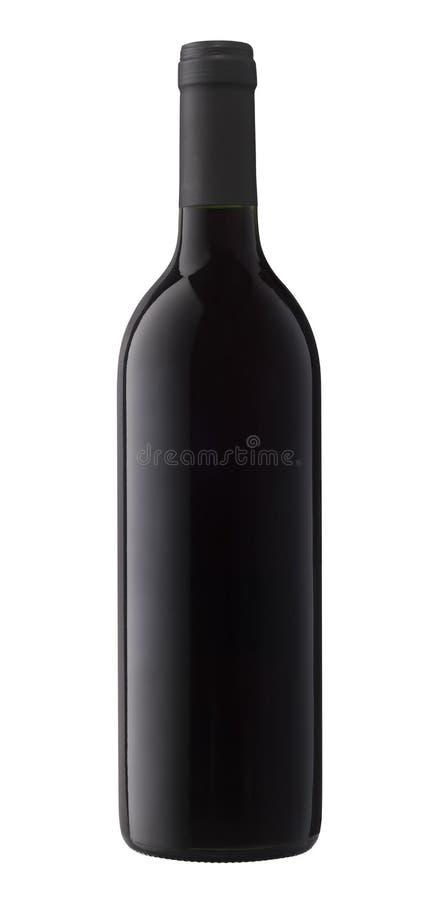 Wein-Flasche trennte lizenzfreie stockbilder