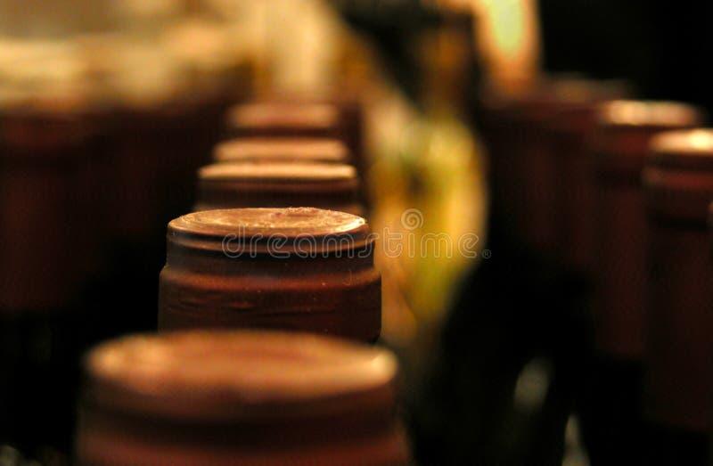 Wein-Flaschen lizenzfreie stockfotos