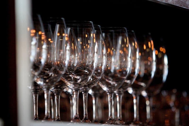 Wein-Gläser stockfotografie