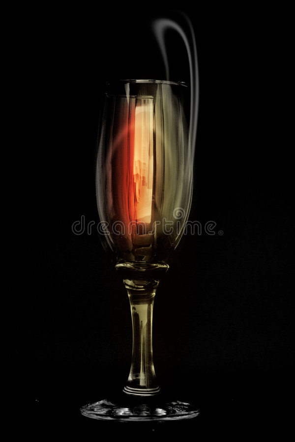 Wein Glas-Abstrakt lizenzfreies stockbild