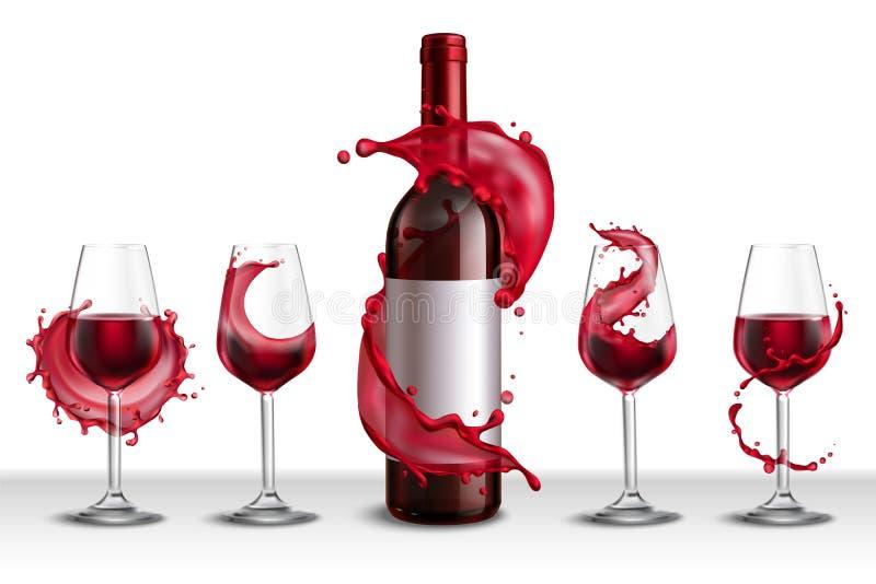 Wein-Glas-Spritzen-Satz vektor abbildung