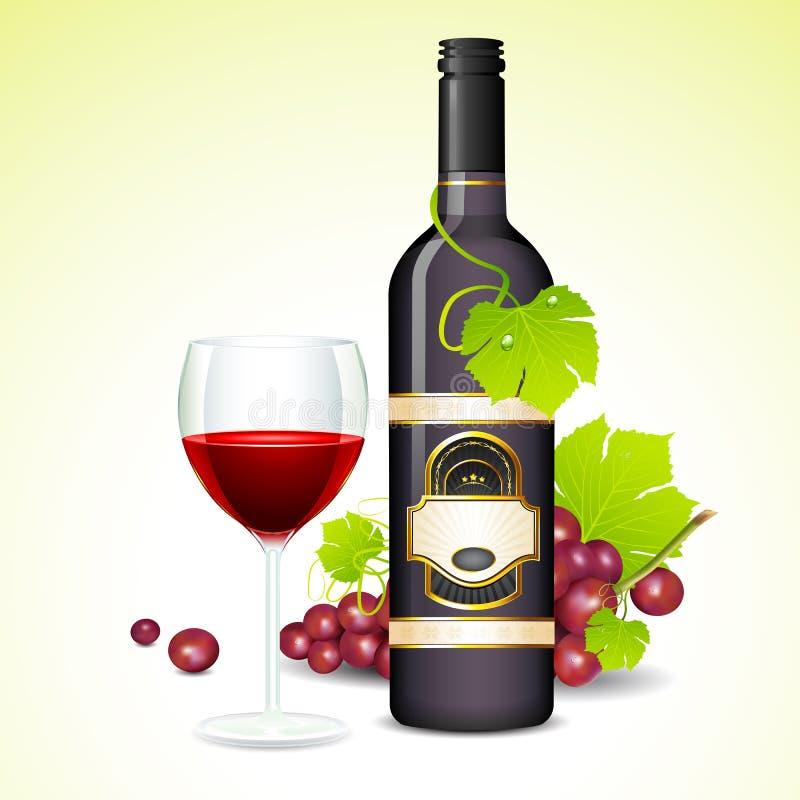 Wein-Glas und Flasche vektor abbildung