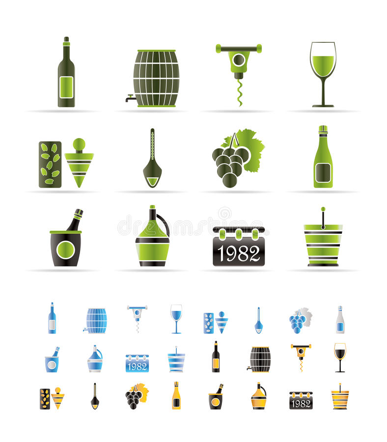 Wein-Ikonen stock abbildung