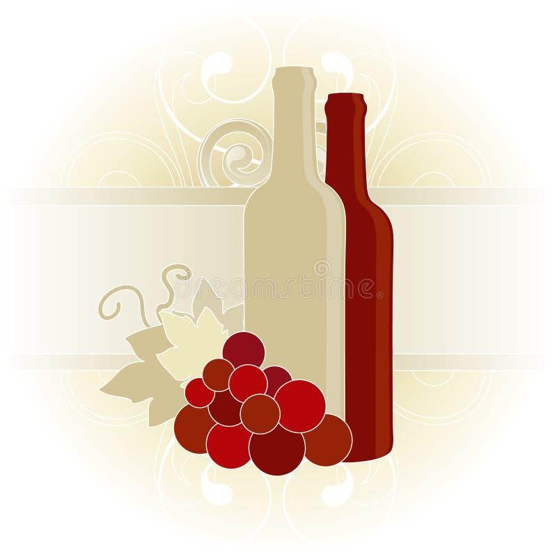 Wein-Karte stock abbildung