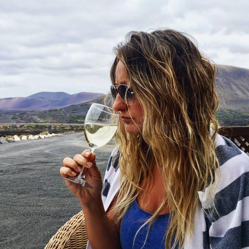 Wein in Lanzarote stockfoto
