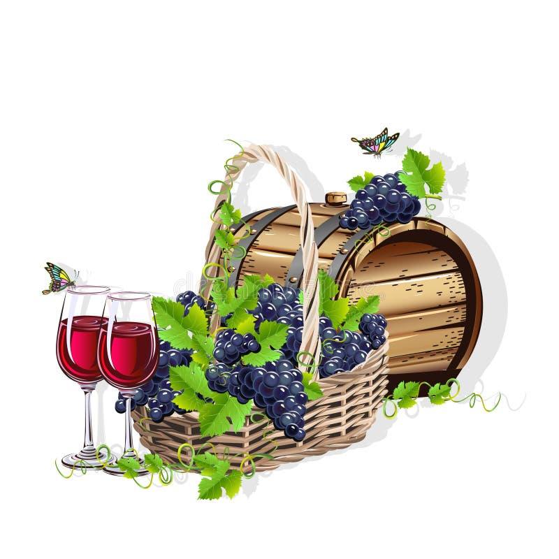 Wein-noch Leben vektor abbildung
