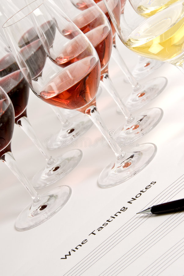 Wein-Probieren stockbilder