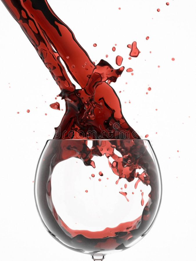 Wein spritzt lizenzfreies stockbild