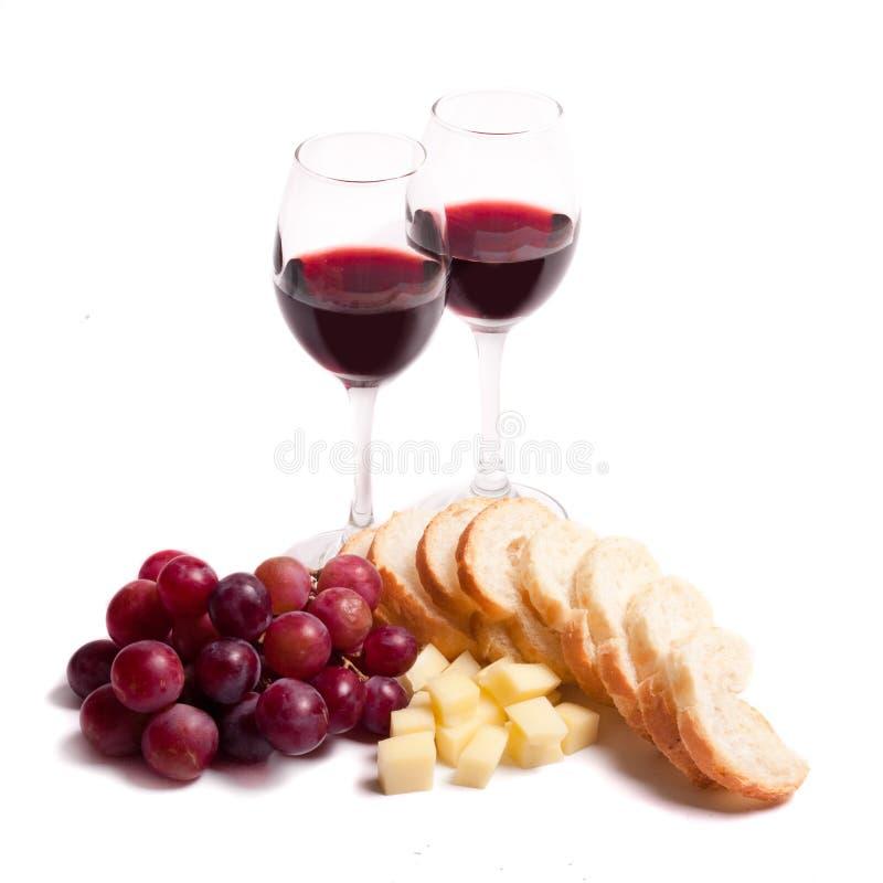 Wein und feinschmeckerische Nahrung stockfoto