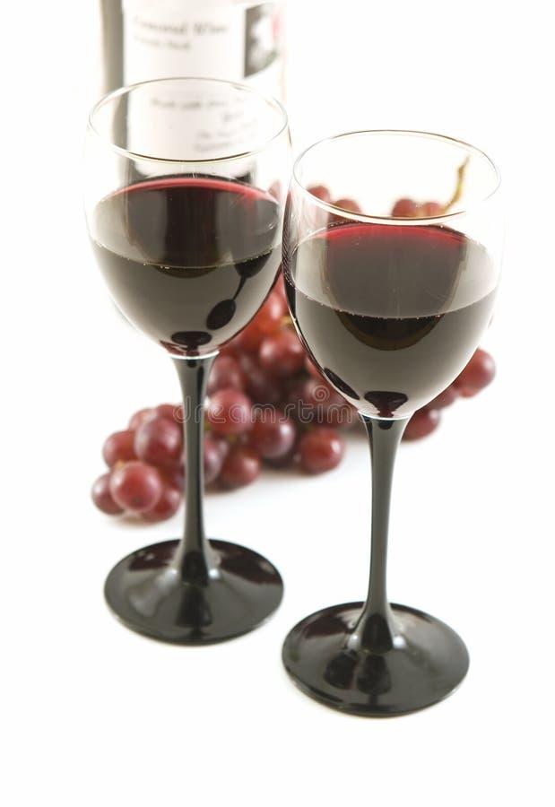 Wein und Frucht stockbild