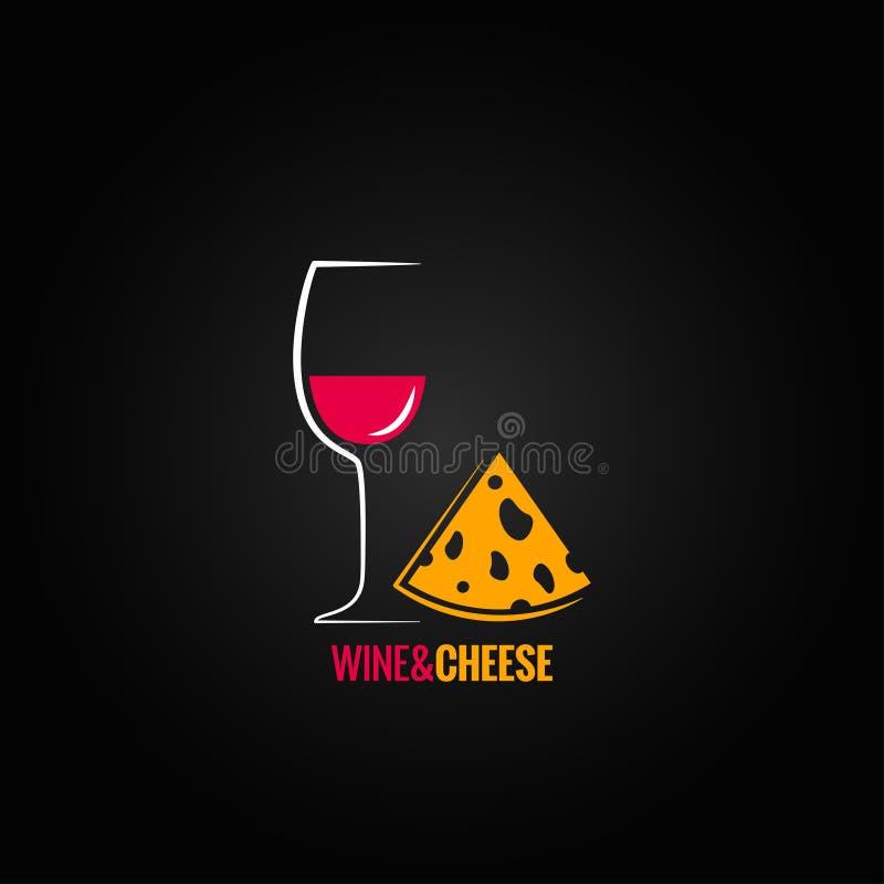 Wein- und Käsedesignhintergrund lizenzfreie abbildung