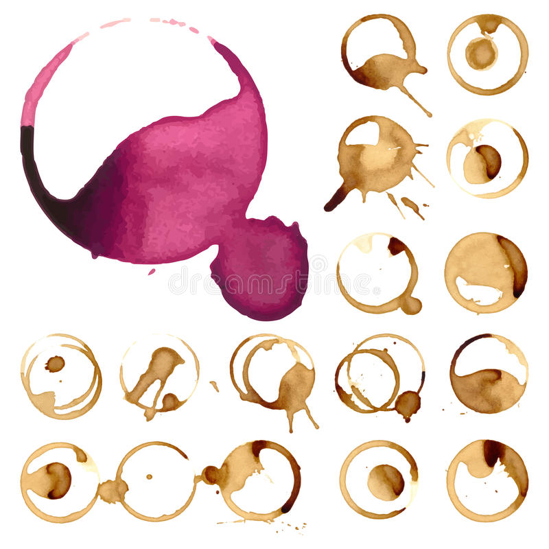 Download Wein Und Kaffee Staiin Stellen Spritzt Spritzen-Vektorillustration Der Schale Vektor Lokalisierte Vektor Abbildung - Illustration von unterseite, abbildung: 96932016