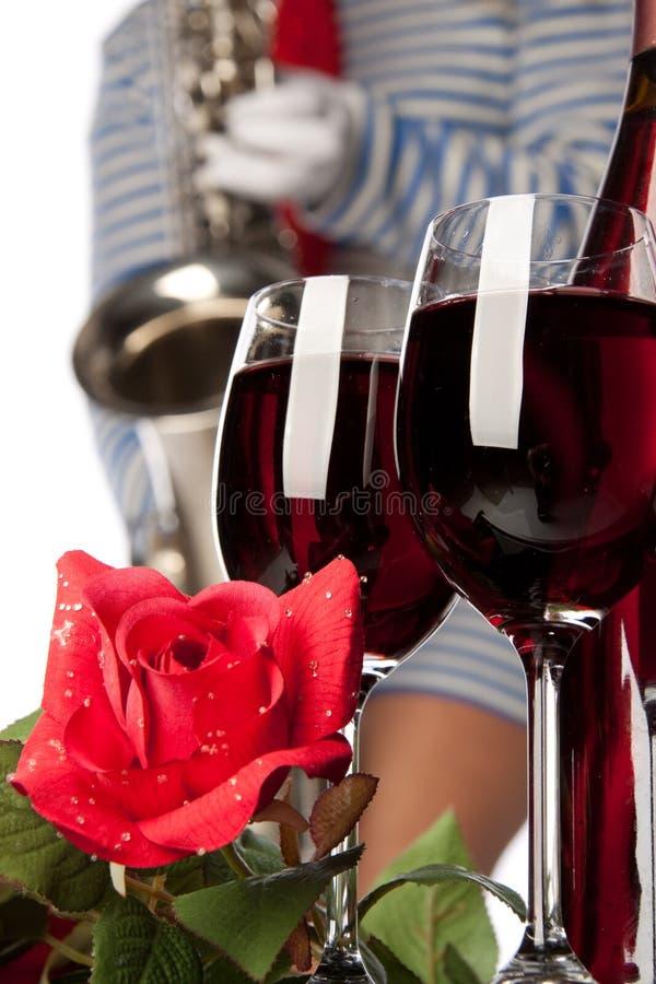 Wein und Musik stockfotos