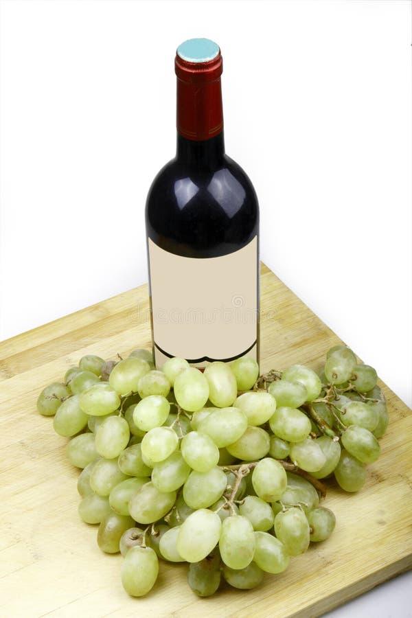 Wein und Traube stockbild