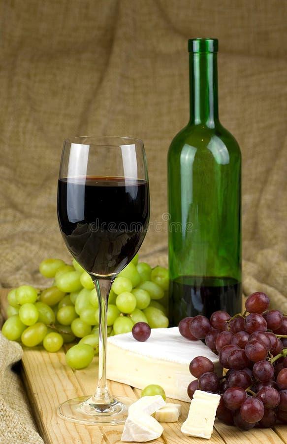 Wein und Trauben lizenzfreies stockbild