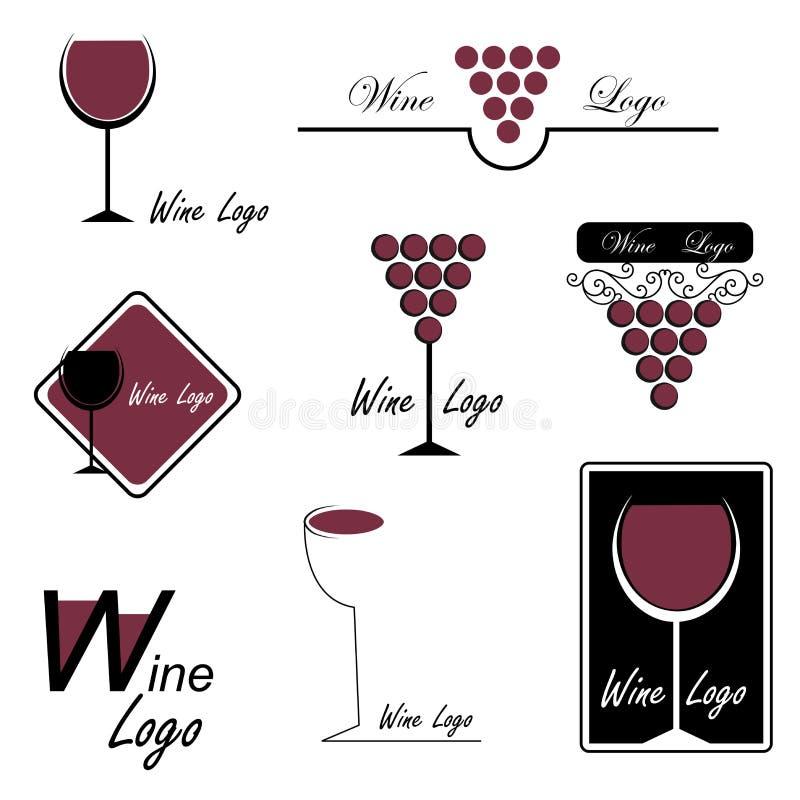 Wein-Zeichen vektor abbildung