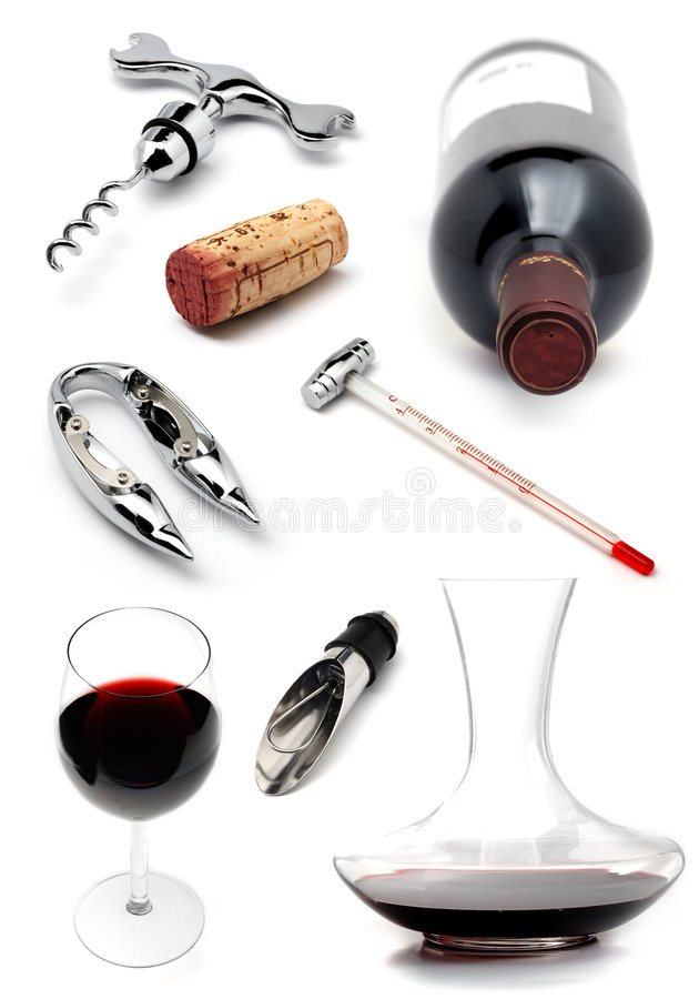 Weinansammlung stockbild