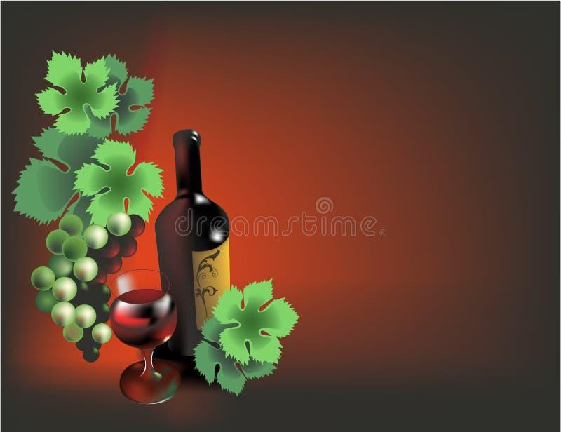 Weinaufbau stock abbildung