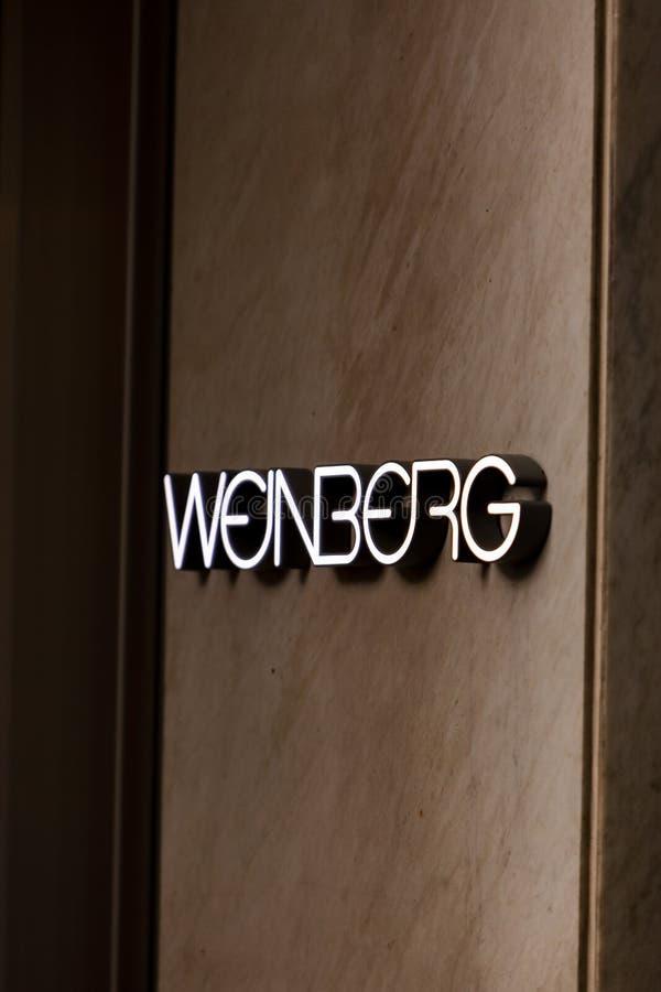 Weinberg sklep zdjęcie royalty free