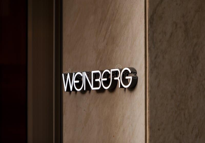 Weinberg sklep zdjęcie stock