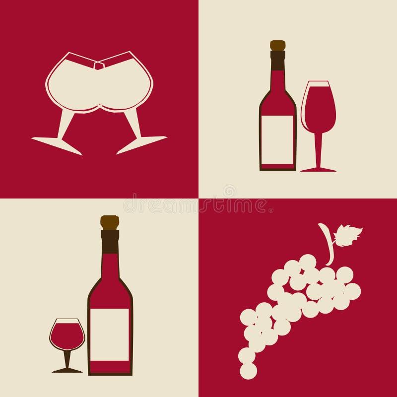 Weindesign vektor abbildung