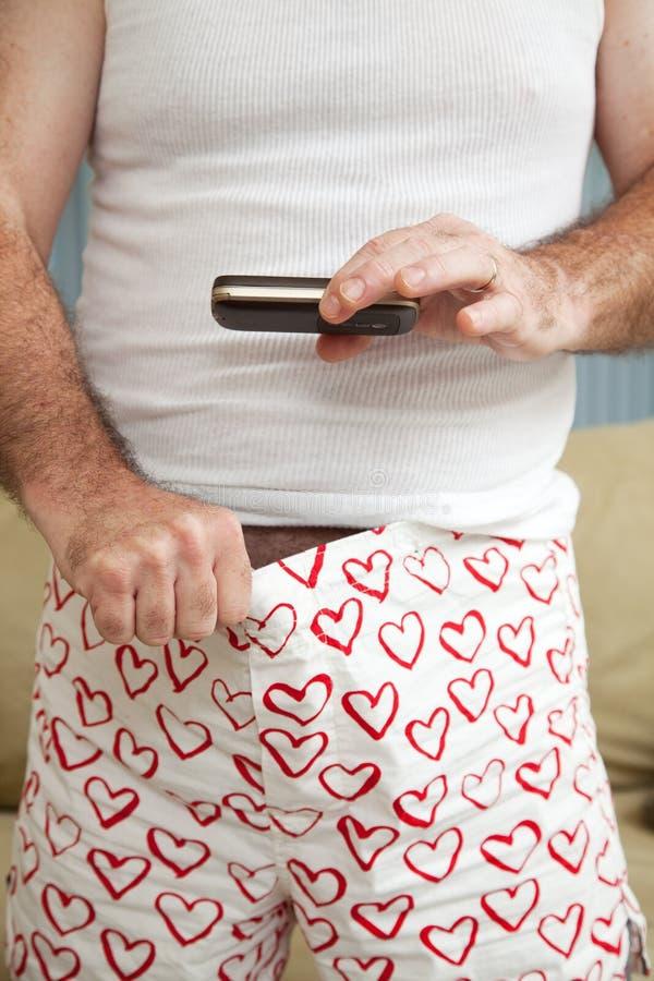 Weinerfoto - Sexting stock foto