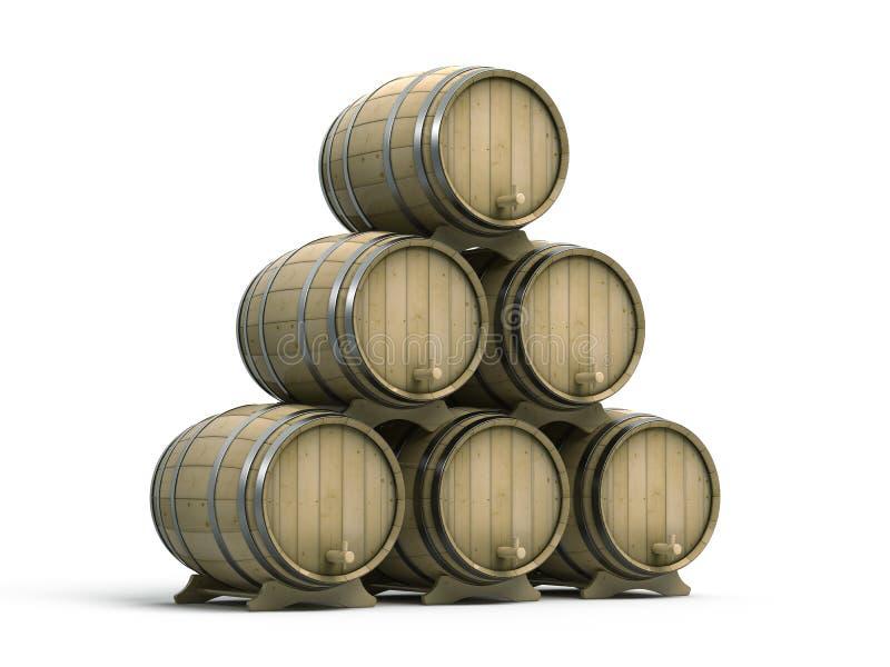 Weinfässer vektor abbildung