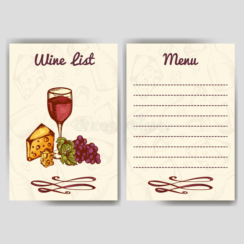 Weinfirma Restaurantthema Template für Geschäftsgestaltungsarbeiten Dokument tem lizenzfreie abbildung