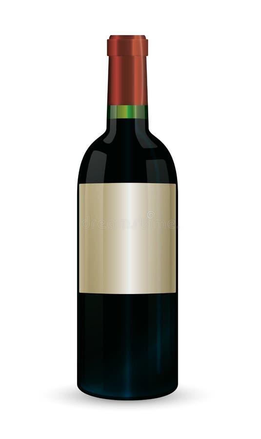 Weinflasche stock abbildung