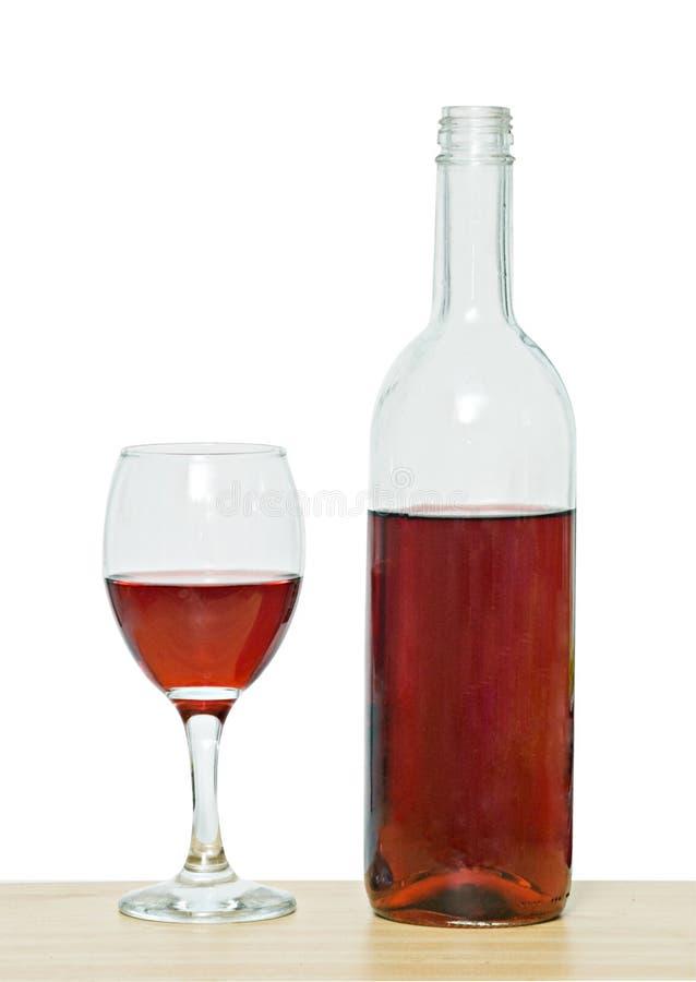 Weinflasche und Becher stockfotos