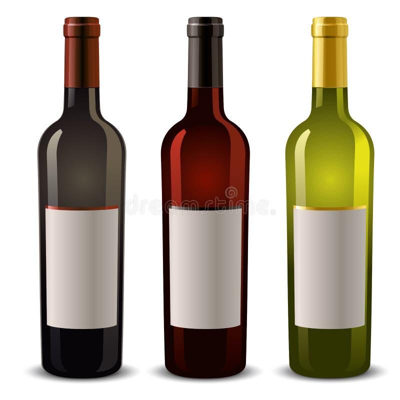 Weinflaschen stock abbildung