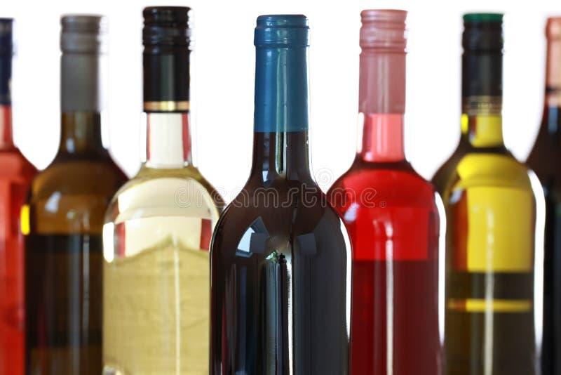 Weinflaschen lizenzfreies stockbild