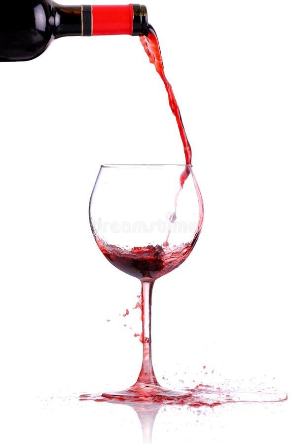 Weingießen stockbilder