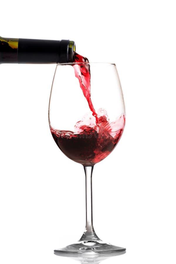 Weingießen stockfotos