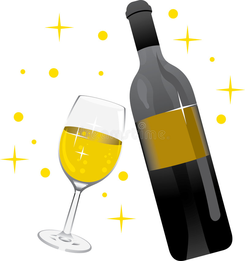 Weinglaschampagner lizenzfreie abbildung