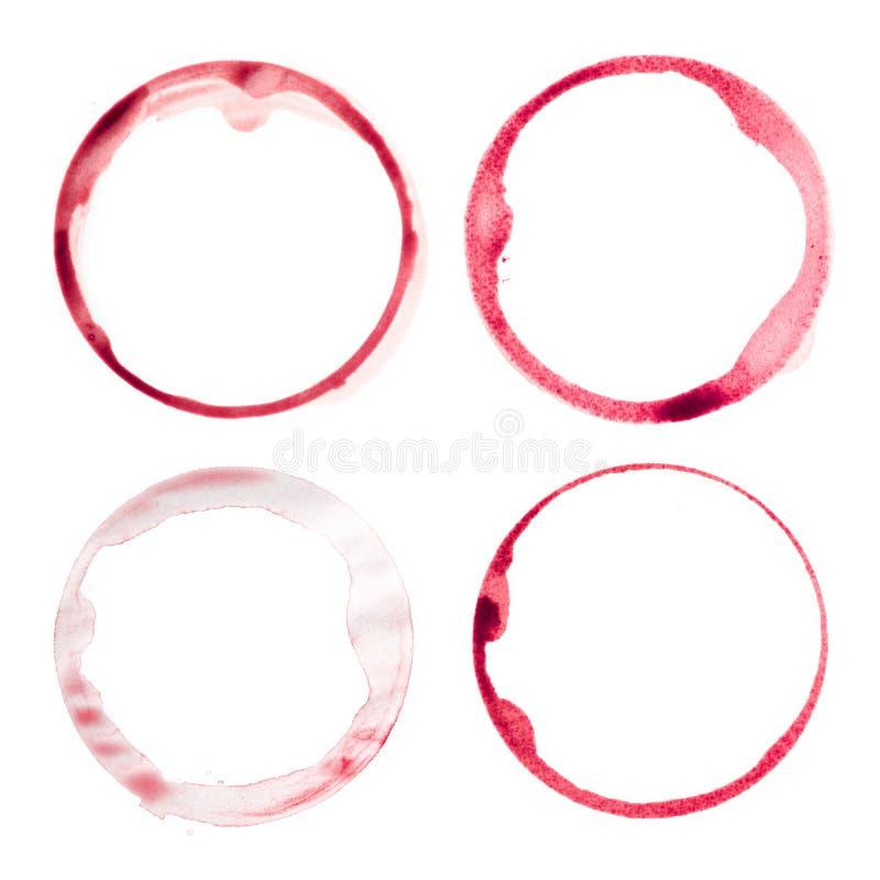 Weinglasflecke stockfoto