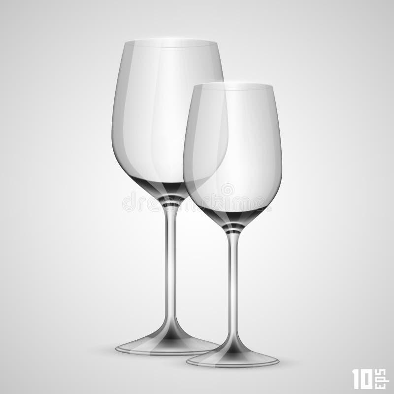 Weinglasgegenstand lizenzfreie abbildung
