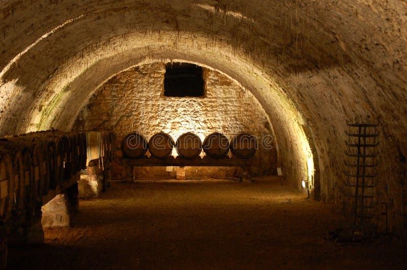 Weinhöhle lizenzfreie stockfotos