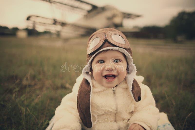 Weinig baby die van proef het zijn dromen stock afbeeldingen