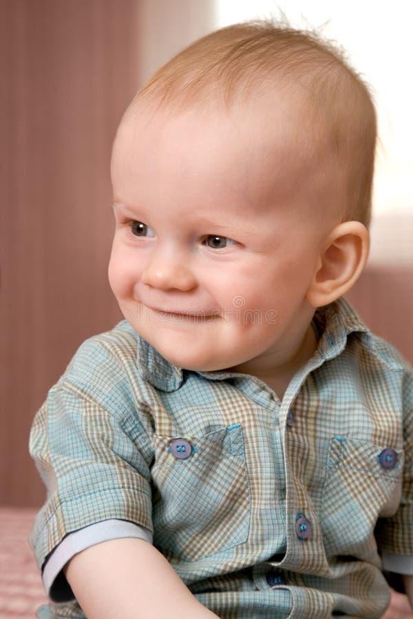 Weinig babyjongen, 1 jaar stock afbeelding