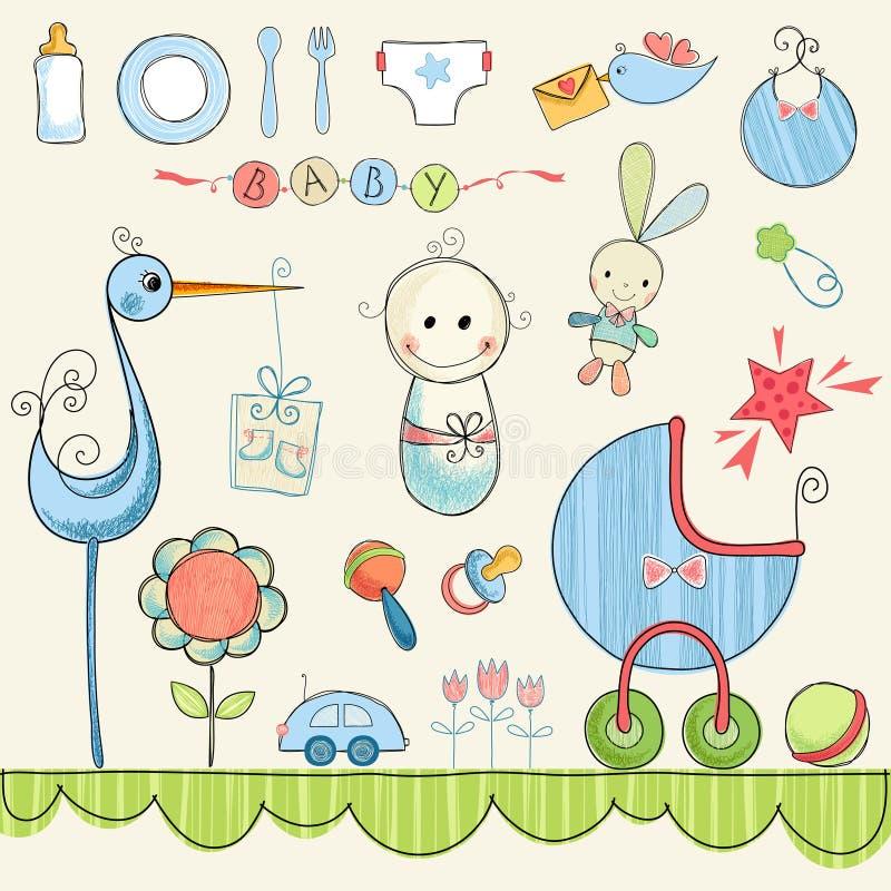 Weinig Babykrabbels vector illustratie